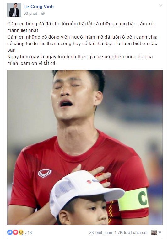 Tien dao Cong Vinh tu gia su nghiep bong da hinh anh 1