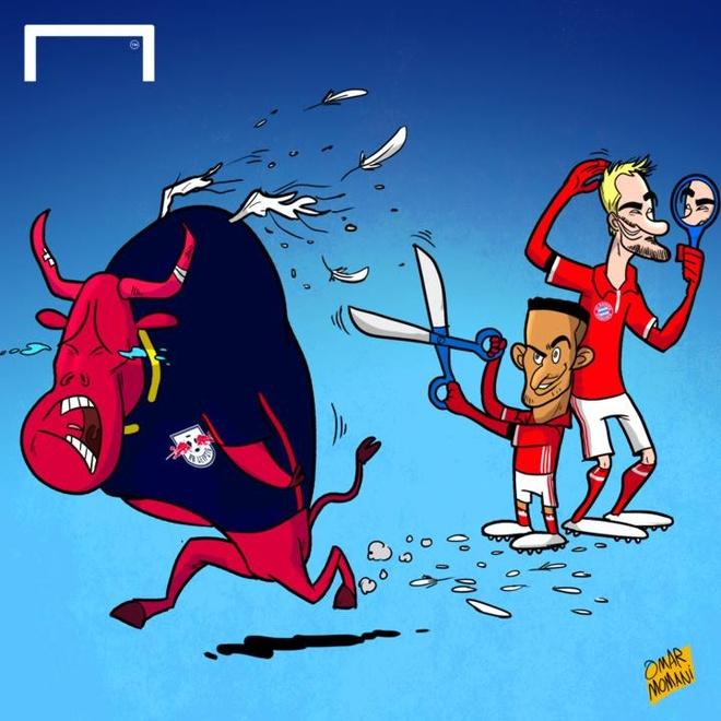 Biem hoa vo si Bayern du bo Leipzig lao dau xuong vuc hinh anh 2