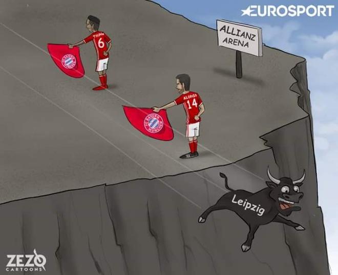 Biem hoa vo si Bayern du bo Leipzig lao dau xuong vuc hinh anh 1
