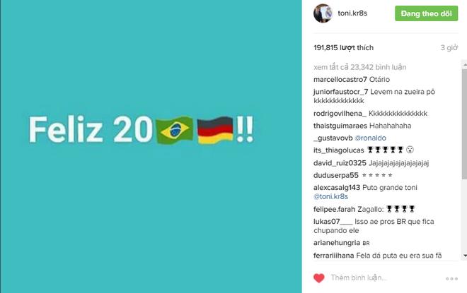 Kroos chao 2017 bang cach xat muoi noi dau cua Brazil hinh anh 1