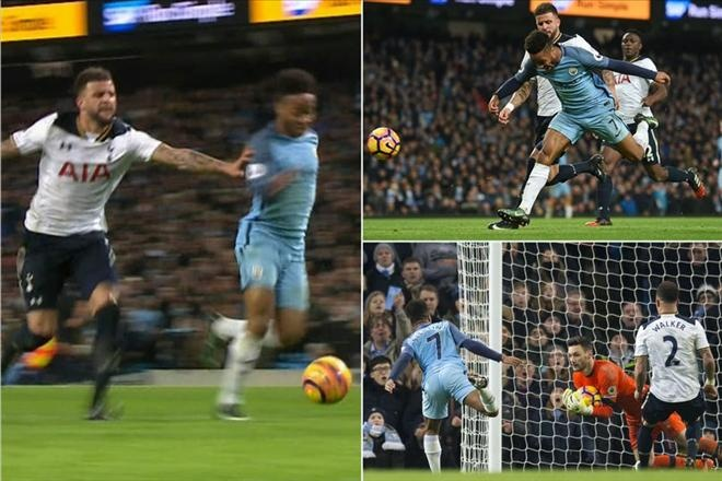 Yaya Toure che Sterling anh 1
