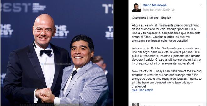 Maradona duoc FIFA trao vai tro gay tranh cai hinh anh 1