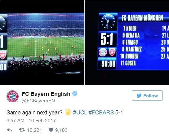 Lap ky luc toi te, Arsenal con bi Bayern gieu cot hinh anh 1