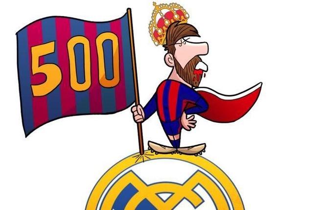 Biem hoa Messi mom day mau, dung cam co ngao nghe tren dau Real hinh anh