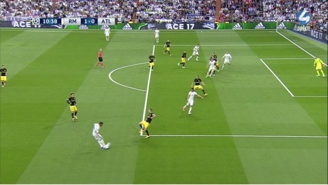 Tran Atletico vs Real Madrid anh 1