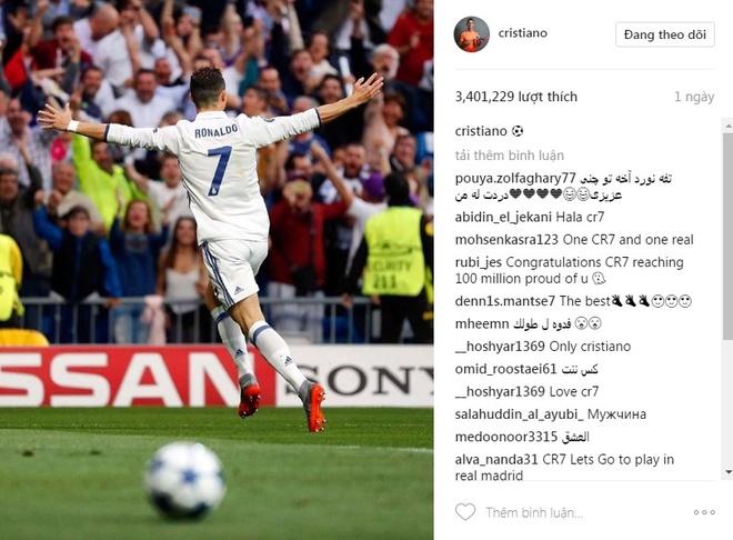 Ronaldo va 9 buc anh duoc tha tim nhieu nhat tren Instagram hinh anh 2
