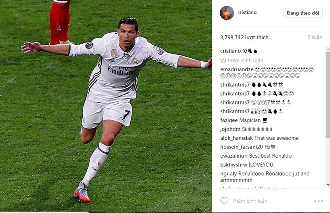 Ronaldo va 9 buc anh duoc tha tim nhieu nhat tren Instagram hinh anh 9