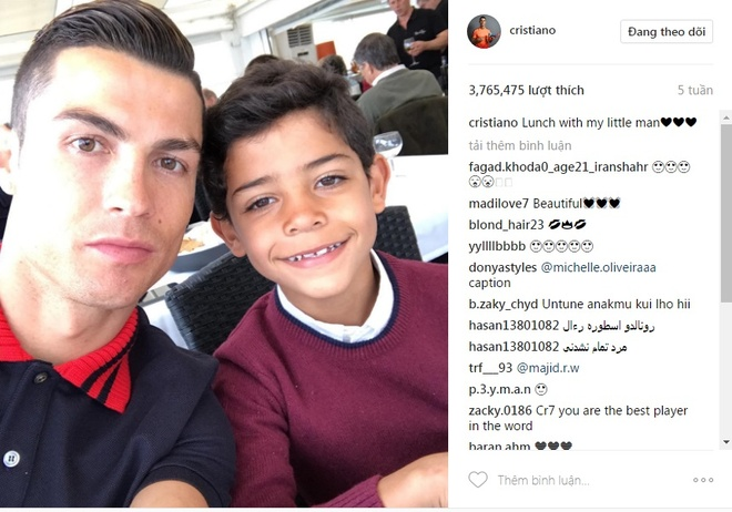 Ronaldo va 9 buc anh duoc tha tim nhieu nhat tren Instagram hinh anh 7