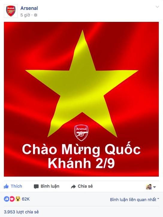 Nhieu doi bong lon chau Au chuc mung Quoc khanh Viet Nam hinh anh 3