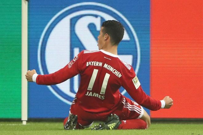 James Rodriguez ghi ban dau tien trong mau ao Bayern hinh anh