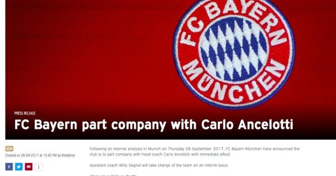 Bayern chinh thuc sa thai HLV Ancelotti hinh anh 1