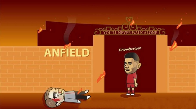 Biem hoa tan binh Chamberlain dot nha Liverpool hinh anh 1
