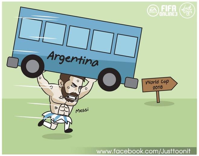 Anh che vi cuu tinh Messi cong lung ganh ta Argentina hinh anh 5