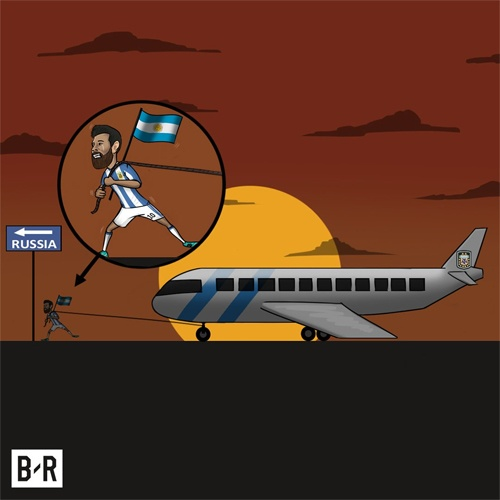 Anh che vi cuu tinh Messi cong lung ganh ta Argentina hinh anh 4