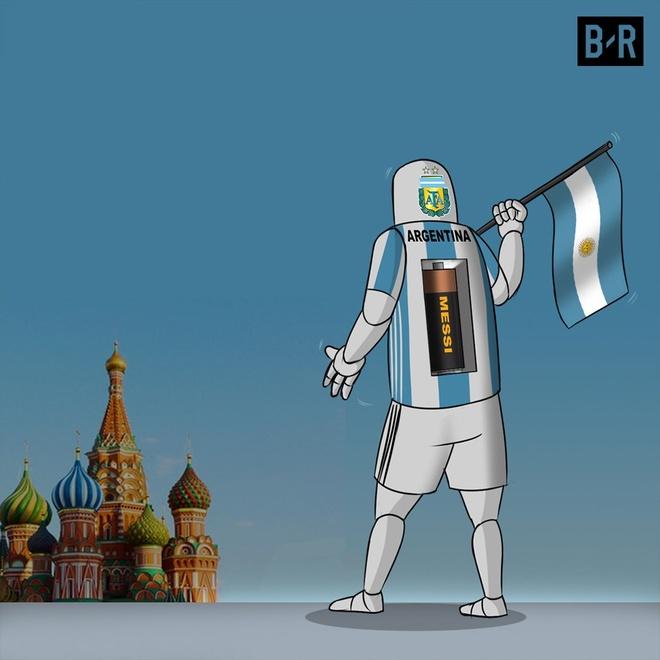 Anh che vi cuu tinh Messi cong lung ganh ta Argentina hinh anh 3