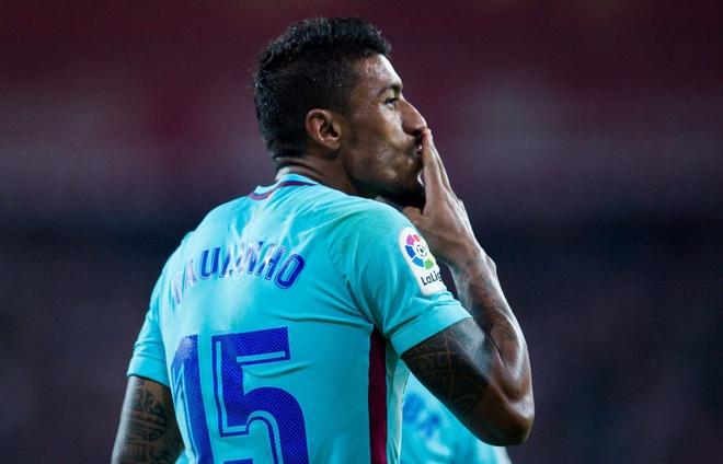 Paulinho va Messi ghi ban, Barca lap cach biet 8 diem voi Real hinh anh