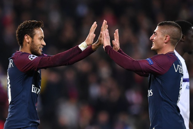 PSG lap 2 ky luc o Champions League hinh anh 1