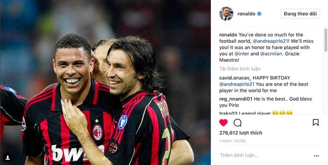 Ro beo, Zidane va Totti cung gui loi tri an Pirlo hinh anh 1