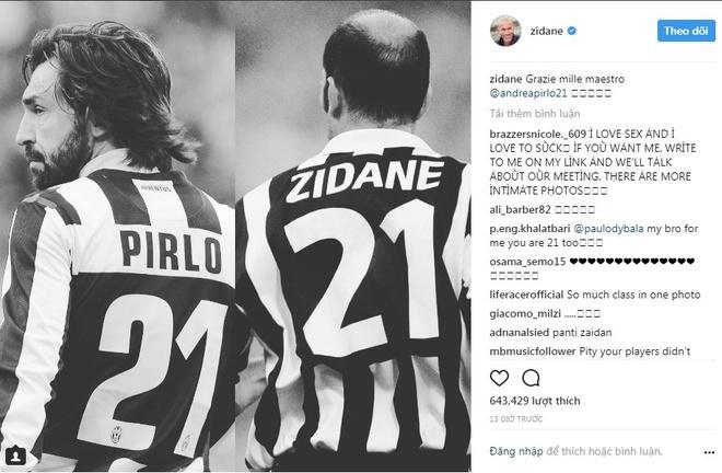 Ro beo, Zidane va Totti cung gui loi tri an Pirlo hinh anh 2