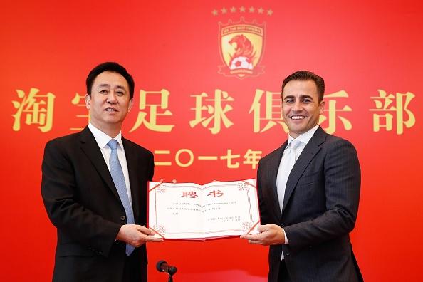 Cannavaro dan dat doi vo dich Trung Quoc 7 lan lien tiep hinh anh