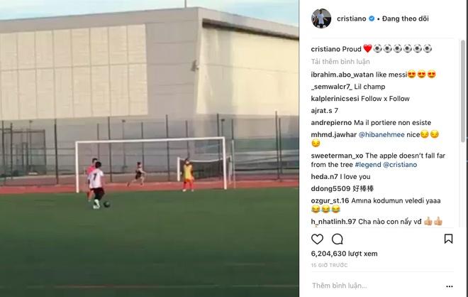 Con trai Ronaldo ghi 6 ban thu hut hon 6 trieu luot xem hinh anh 1