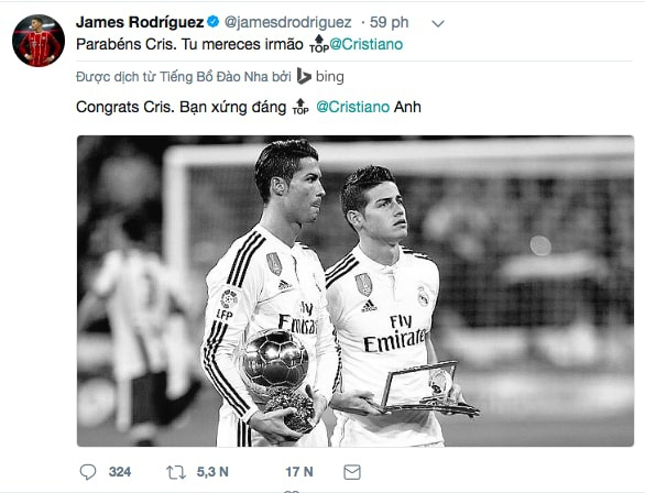 Ronaldo gianh qua bong vang 2017 anh 8