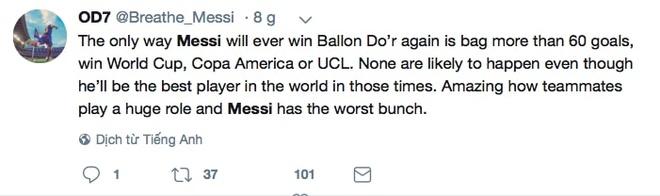 Phe cua Messi cay cu khi Ronaldo gianh qua bong vang hinh anh 10