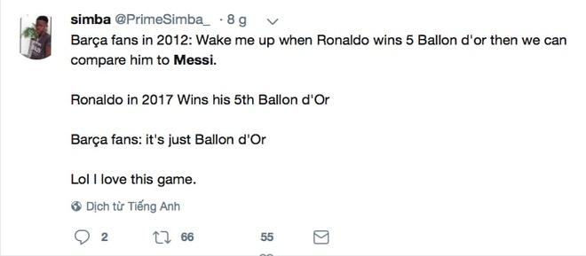 Phe cua Messi cay cu khi Ronaldo gianh qua bong vang hinh anh 15