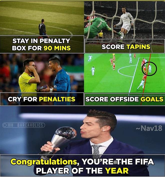 Phe cua Messi cay cu khi Ronaldo gianh qua bong vang hinh anh 3