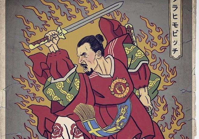 Ronaldo, Messi va Ibra trong hinh hai chien binh samurai hinh anh