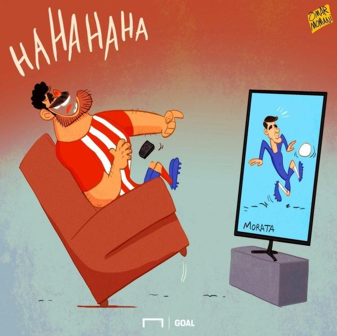 Biem hoa Diego Costa cuoi nhao chan go Morata hinh anh 1