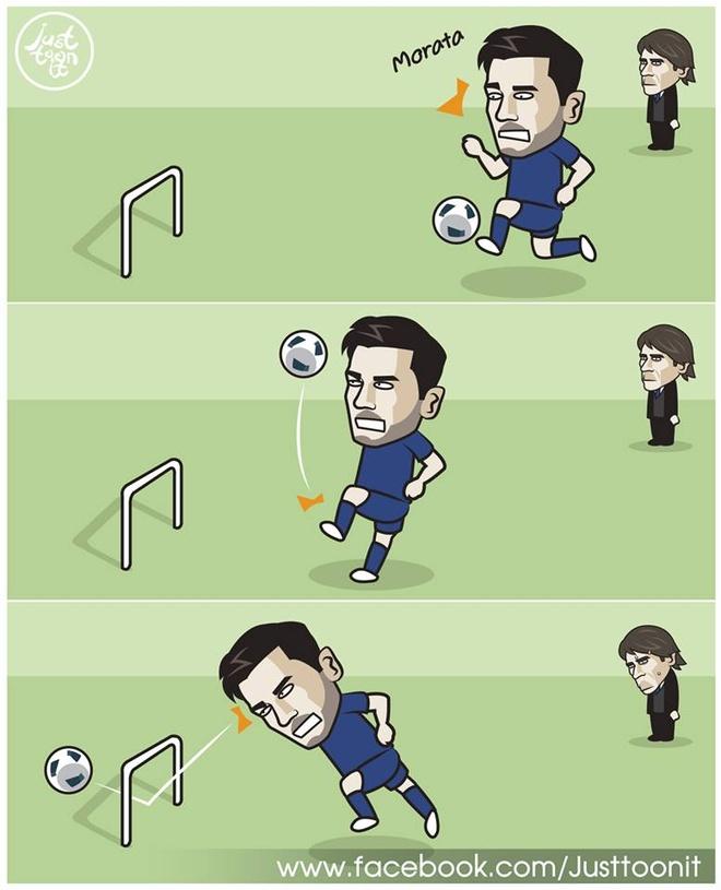 Biem hoa Diego Costa cuoi nhao chan go Morata hinh anh 3