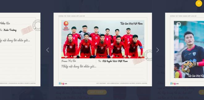 Cung gui loi chuc chien thang toi U23 Viet Nam hinh anh 1