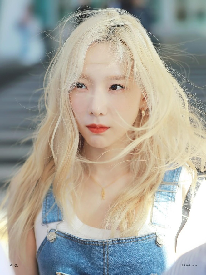 Taeyeon nhuom toc vang anh 5