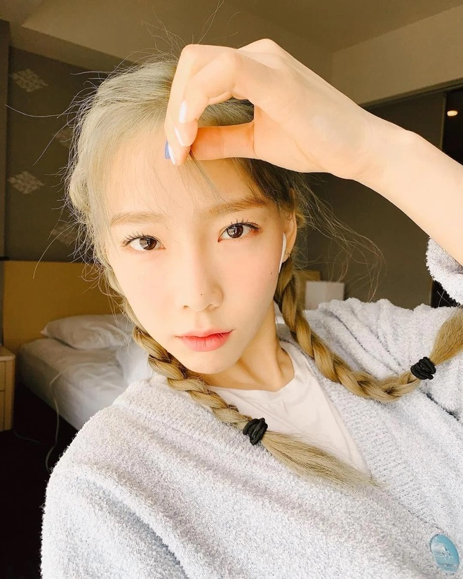Taeyeon nhuom toc vang anh 4