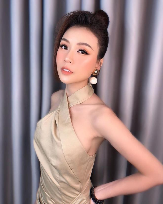 Chi Pu mac vay khoet sau khoe body, Chau Bui dien ca cay Louis Vuitton hinh anh 7