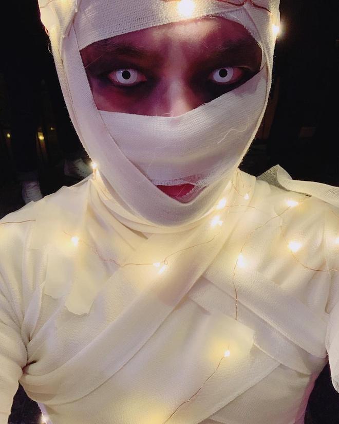trang phuc Halloween an tuong cua idol Han anh 9