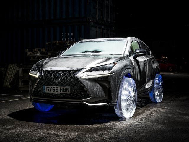 Lexus NX dung banh 'dong lanh' hinh anh