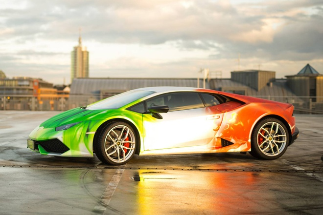 Lamborghini Huracan son 3 mau doc dao hinh anh