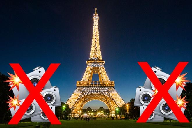 Tai sao khong duoc chup hinh thap Eiffel ban dem? hinh anh