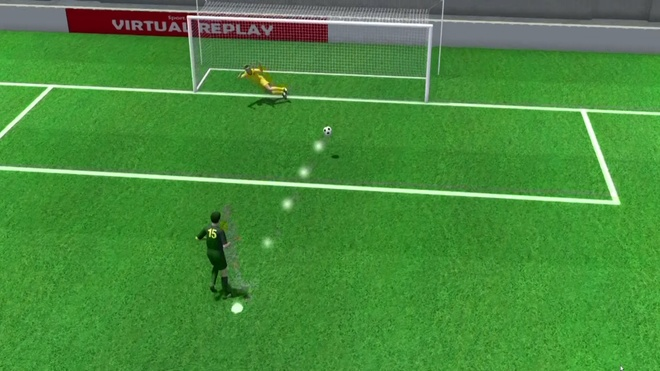 Qua penalty cua Australia vao luoi Dan Mach duoi goc nhin 3D hinh anh
