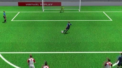 Pha penalty dua Phap vuon len cua Griezmann duoi goc nhin 3D hinh anh