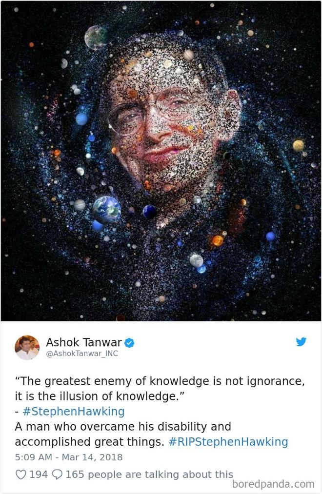 Loi nhan gui cuoi cung cua dan mang the gioi toi Stephen Hawking hinh anh 5