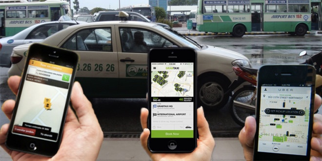 Taxi truyen thong quyet kien Grab, Uber hinh anh