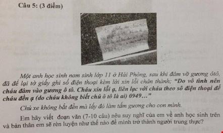 Loi nhan xin loi vi lam be kinh xe vao de kiem tra hoc ky hinh anh 1