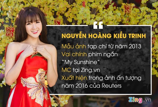 'Hot girl vuon dao' Kieu Trinh: Tet nay toi van F.A hinh anh 1