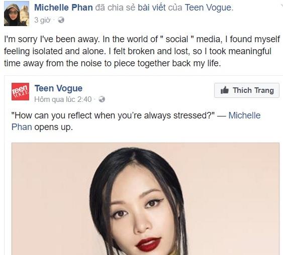 Michelle Phan bi tram cam, xin loi fan khi bo dung mang xa hoi hinh anh 1