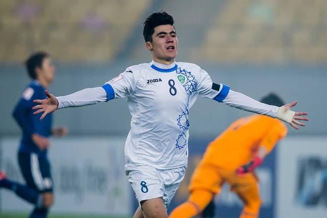 Cau thu nguy hiem nhat U23 Uzbekistan dep trai nhu tai tu hinh anh 4