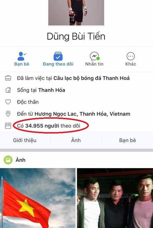 Facebook cua thu mon Bui Tien Dung vuot moc mot trieu follow hinh anh 1