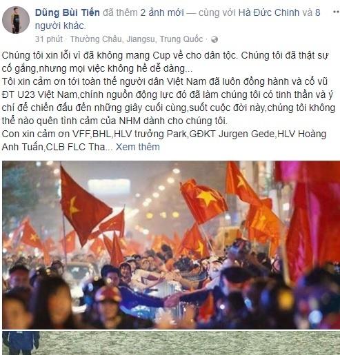 Facebook cua thu mon Bui Tien Dung vuot moc mot trieu follow hinh anh 3